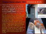 staged terror attack 2001 clinton bush