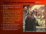 staged terror attacks in history nero