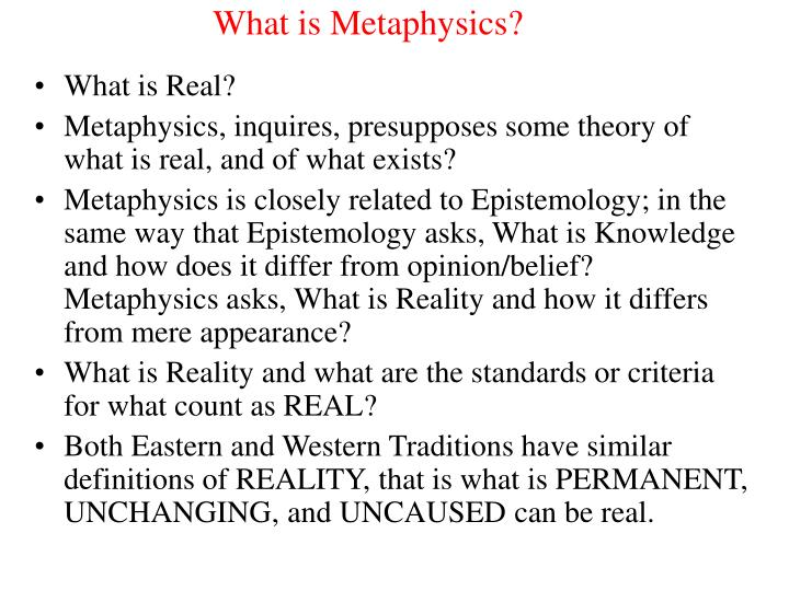 What is metaphysics