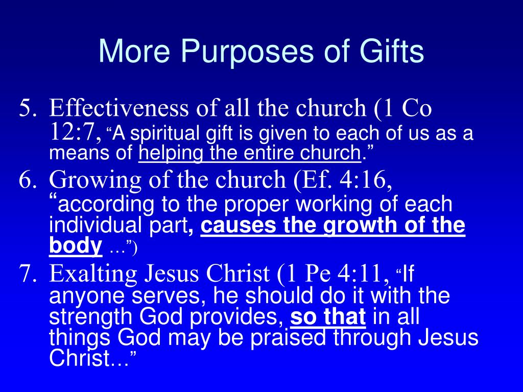 More Purposes of Gifts