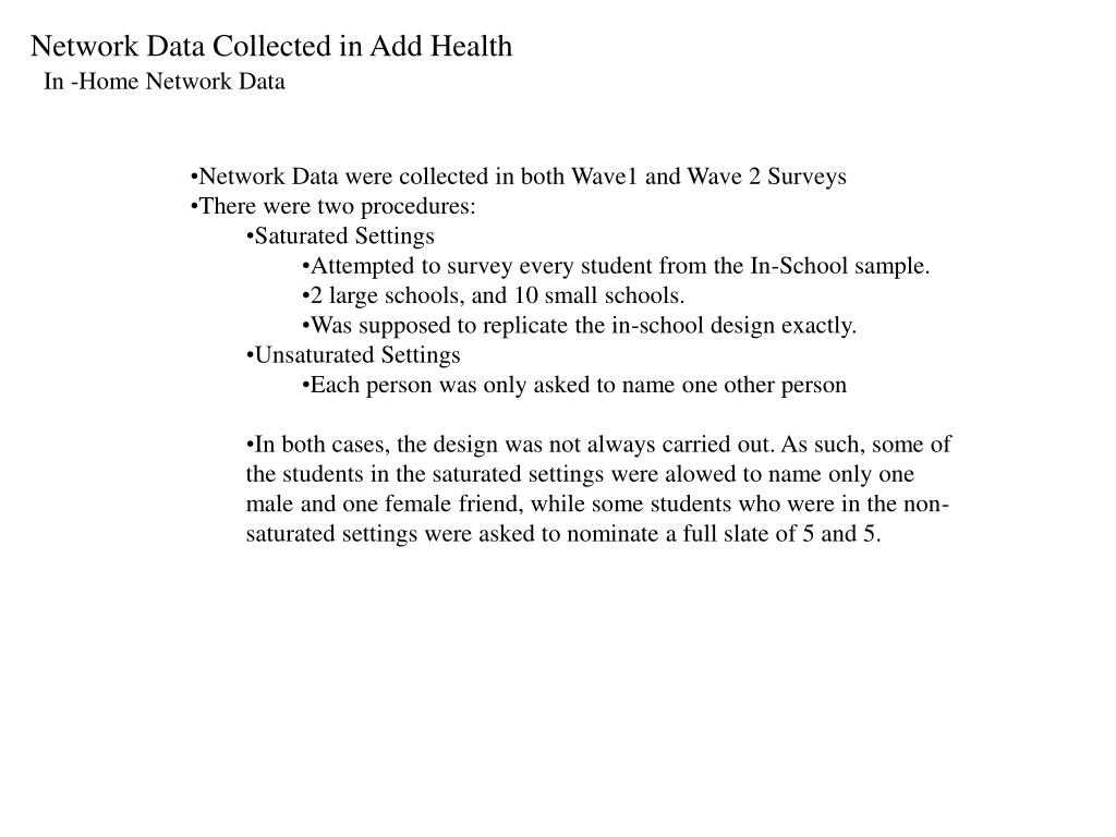 Network Data Collected in Add Health