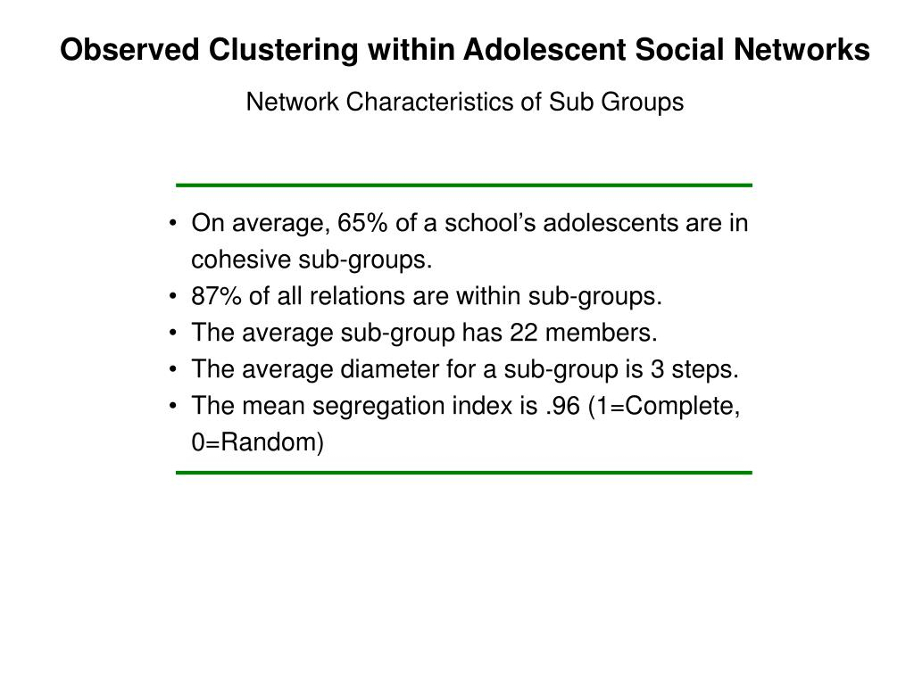 Observed Clustering within Adolescent Social Networks