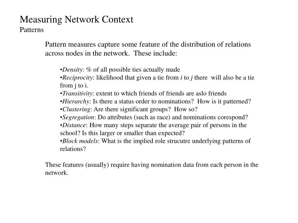 Measuring Network Context