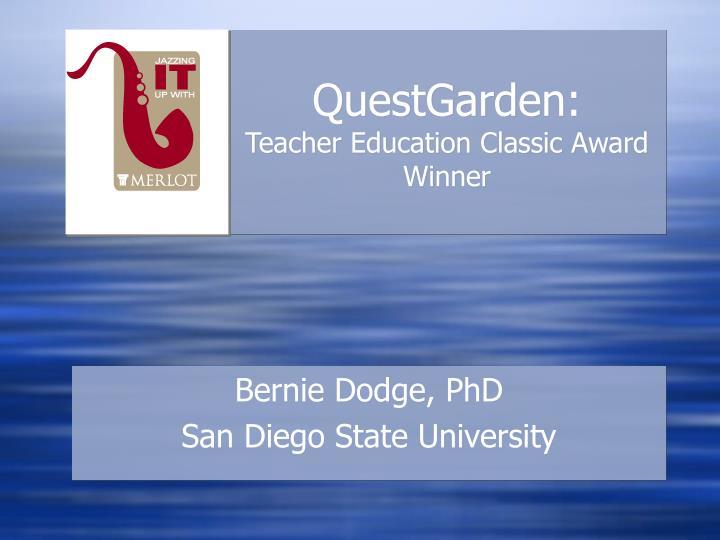 Questgarden teacher education classic award winner