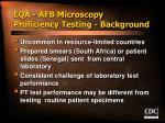 eqa afb microscopy proficiency testing background