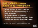 eqa afb microscopy rechecking background