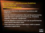 proposed eqa afb microscopy guidelines key features on site evaluation