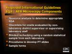 proposed international guidelines eqa afb microscopy components