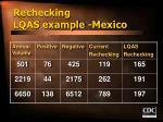 rechecking lqas example mexico