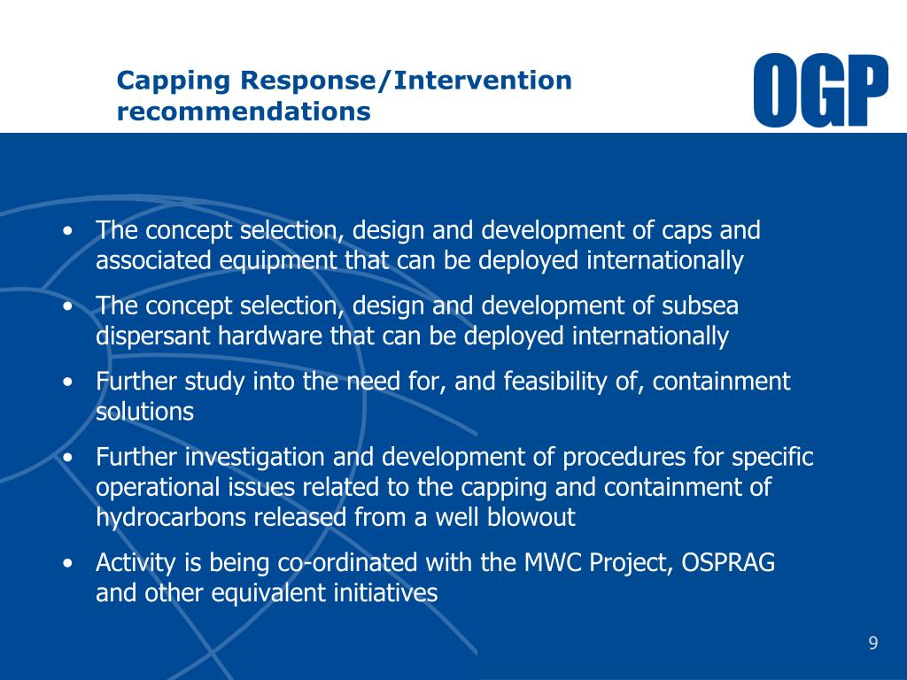 Capping Response/Intervention recommendations