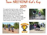 team nrc kona kid s kup 2007