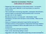 macro economic profile core areas of concern