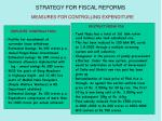 strategy for fiscal reforms40