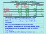 tamil nadu poverty estimates