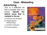 case misleading advertising
