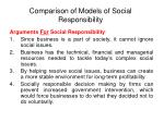 comparison of models of social responsibility