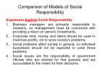 comparison of models of social responsibility19