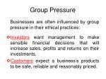 group pressure
