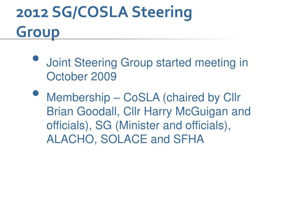 2012 SG/COSLA Steering Group
