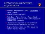 depreciation and revenue requirements