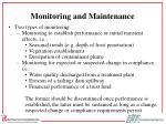 monitoring and maintenance37