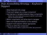 dojo accessibility strategy keyboard support