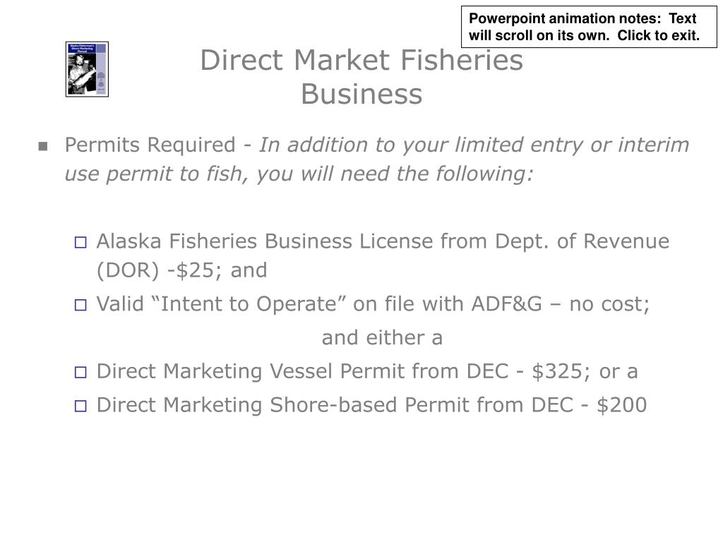 Direct Market Fisheries Business