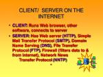 client server on the internet
