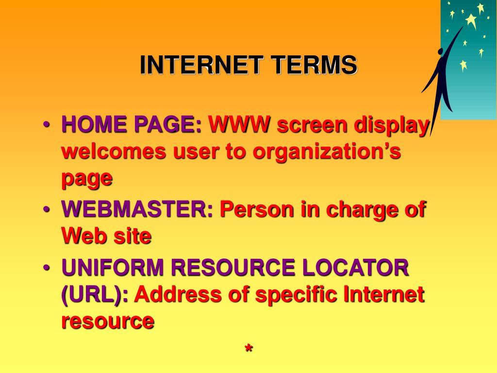 INTERNET TERMS