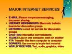 major internet services