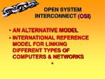 open system interconnect osi