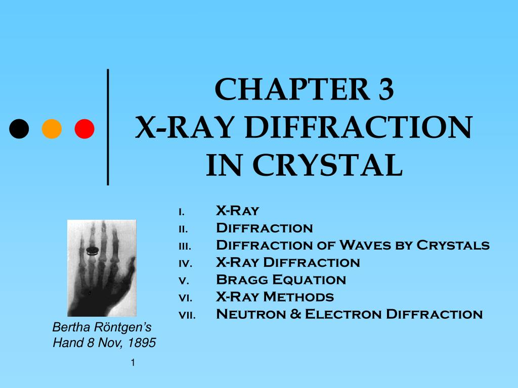 chapter 3 x ray diffraction in crystal l.