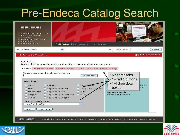 Pre-Endeca Catalog Search
