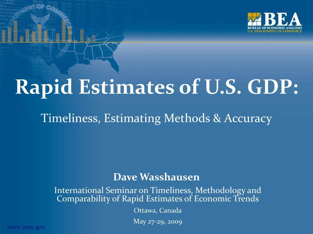 rapid estimates of u s gdp