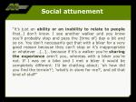 social attunement