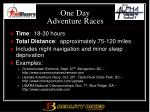 one day adventure races