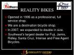 reality bikes