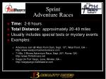 sprint adventure races