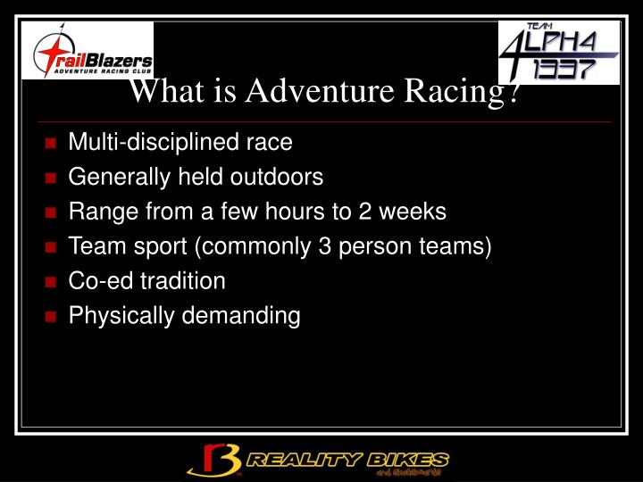 What is adventure racing