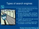 types of search engines