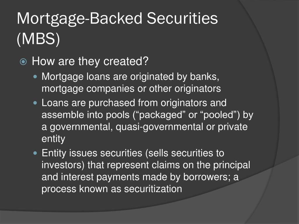 Mortgage-Backed Securities (MBS)
