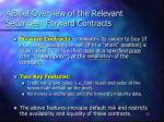 a brief overview of the relevant securities forward contracts