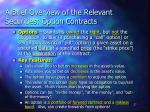 a brief overview of the relevant securities option contracts