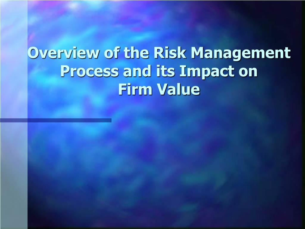 overview of the risk management process and its impact on firm value