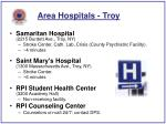 area hospitals troy