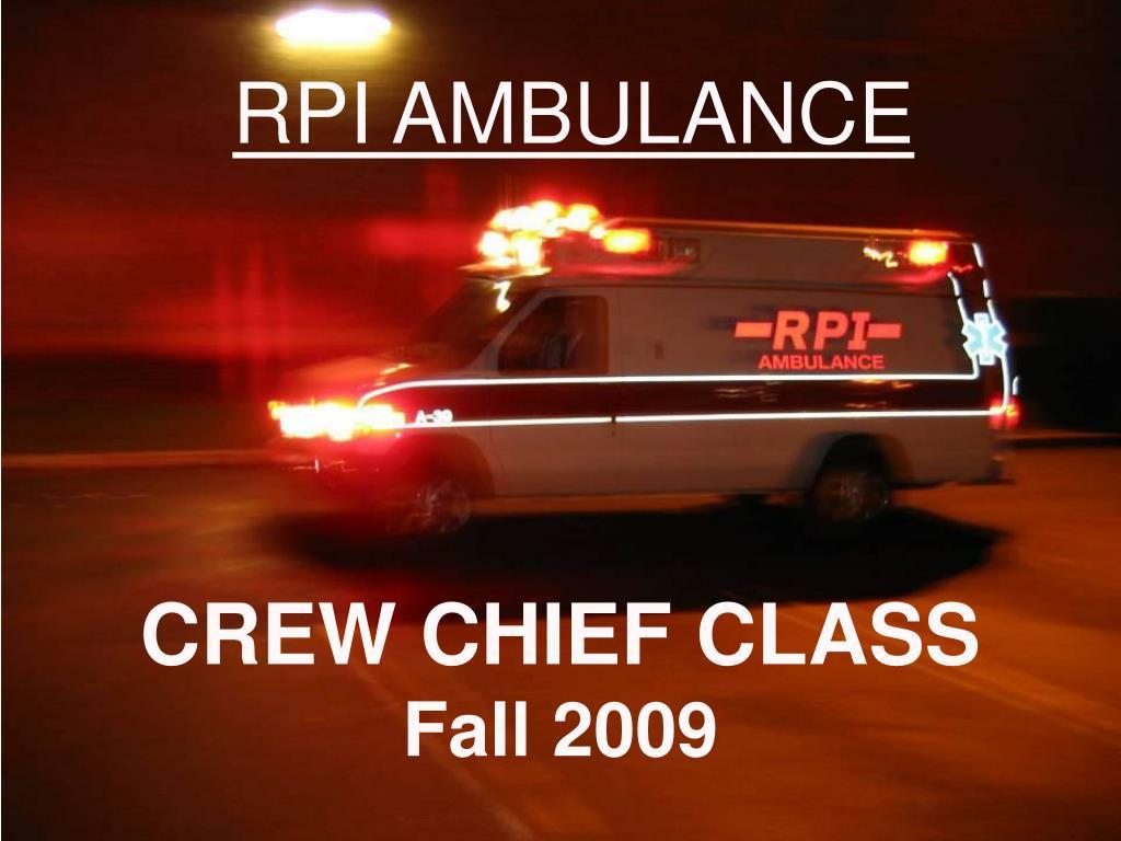 crew chief class fall 2009 l.