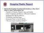 hospital radio report