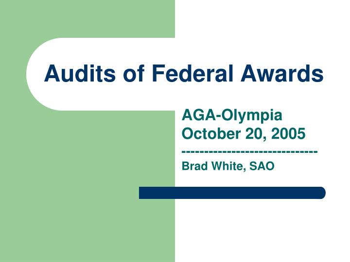 Audits of federal awards