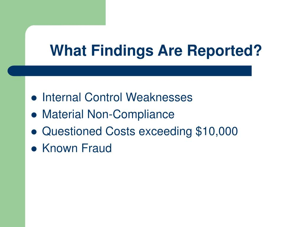 What Findings Are Reported?