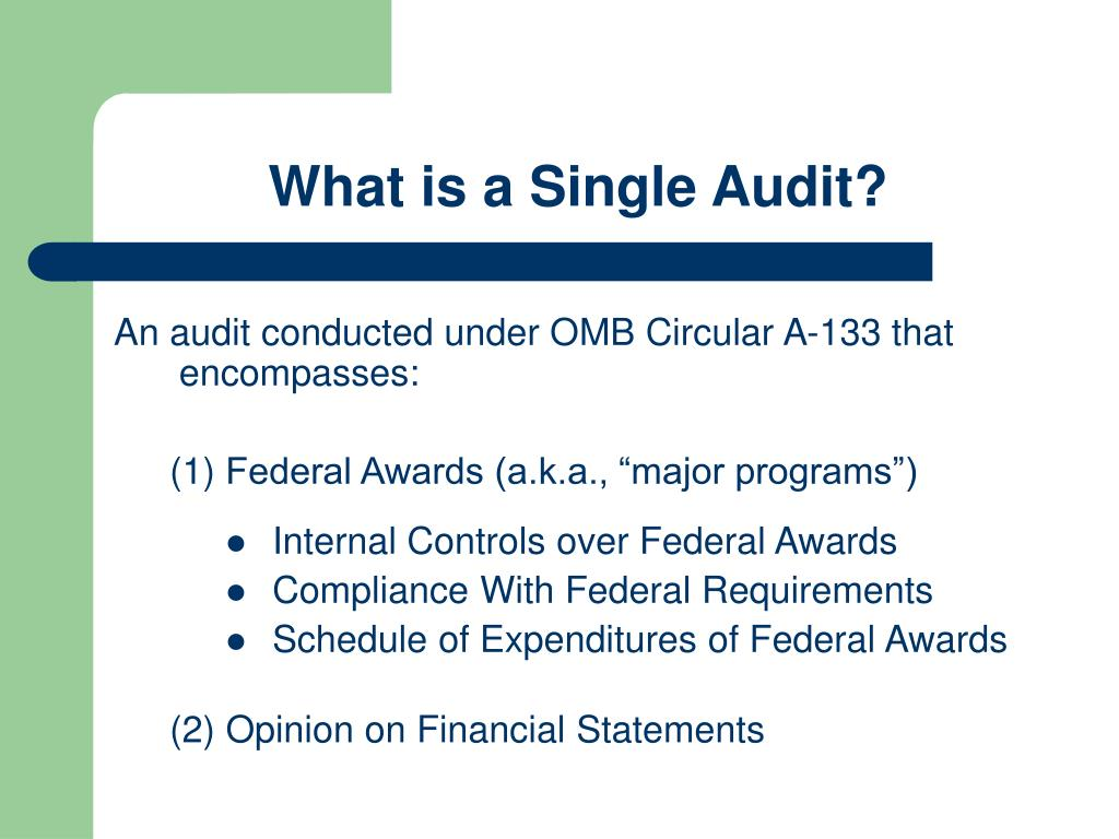 What is a Single Audit?